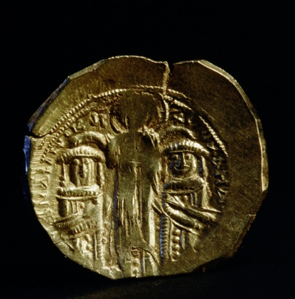 A 13th-century gold coin