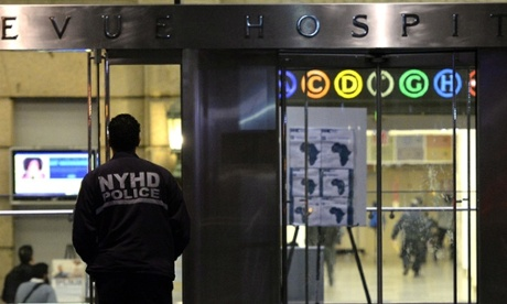 A doctor who tested positive for Ebola is being treated at Bellevue hospital in New York.