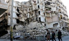 Collapsed building Aleppo