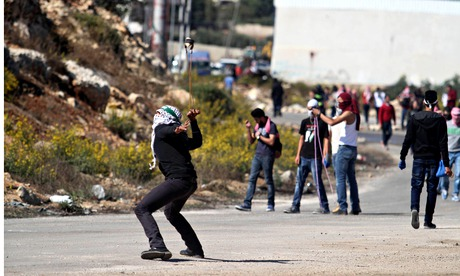 Palestinian protests in Ramallah, West Bank