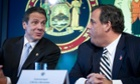 Andrew Cuomo and Chris Christie speak about the latest Ebola measures on Friday.
