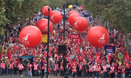 TUC march against austerity, London, 18 October 2014.