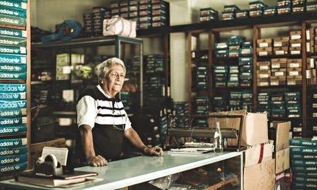 Carlos Ruiz, 75, owner of the sportswear shop in Buenos Aires