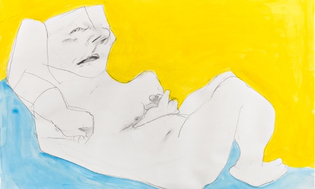 Maria Lassnig Woman in the Bed