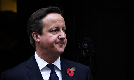 Prime Minister David Cameron Greets Emir of Qatar