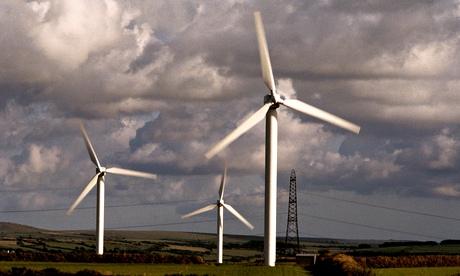 A wind farm in Cornwall