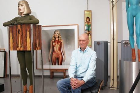 Allen Jones in his studio in London's Smithfield