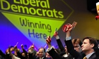 Nick Clegg votes at the Liberal Democrat conference in Glasgow