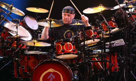 Musician Neil Peart of the band Rush
