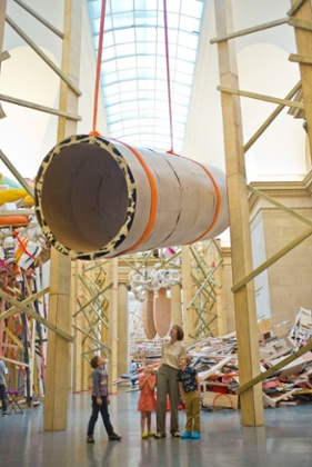 Confronting Phyllida Barlow's artworks.