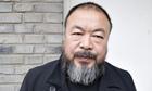Ai Weiwei in his studio courtyard, Beijing, China