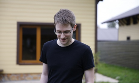 Edward Snowden in Moscow, filmed by Laura Poitras in her documentary Citizen Four