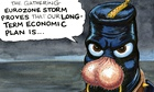 Steve Bell on George Osborne and the eurozone cartoon