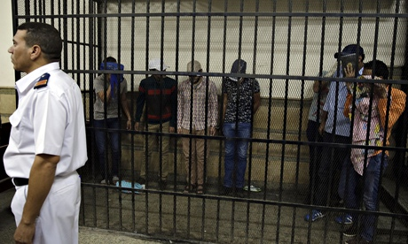 Eight Egyptian men were convicted following their appearance in a video of an alleged gay wedding party.