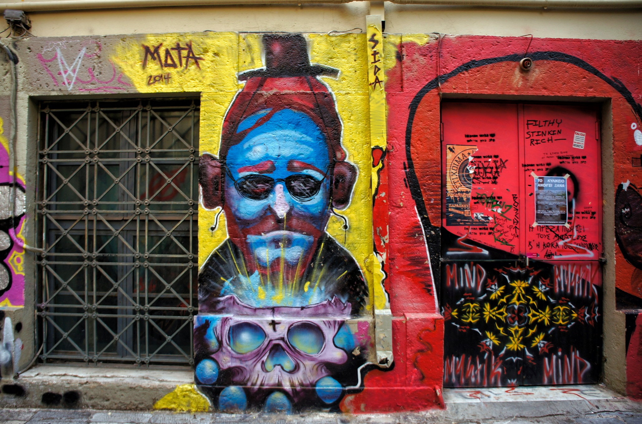 contemporary graffiti art on the walls of athens  u2013 in