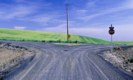 Fork in road