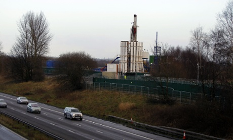 A general view of the fracking site at Barton Moss, Greater Manchester on January 26, 2014.