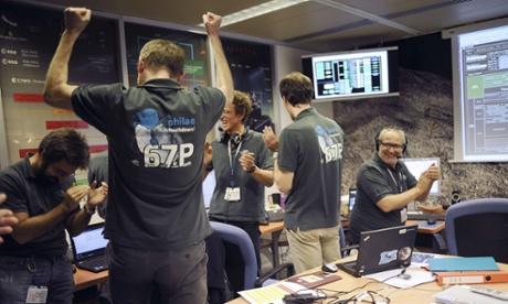 Rosetta scientists celebrate