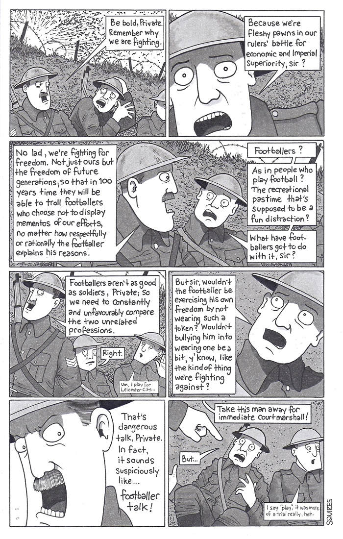 David Squires On Footballers Wearing Poppies Football