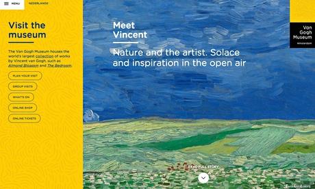 How we designed the Van Gogh Museum website