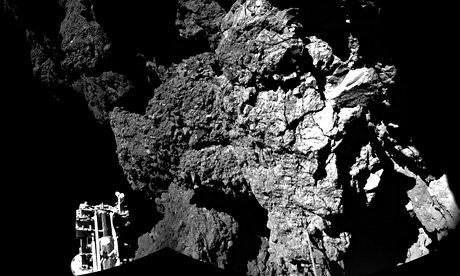 The 67P comet as seen from the Philae lander