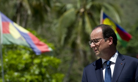 French President Francois Hollande in New Caledonia.