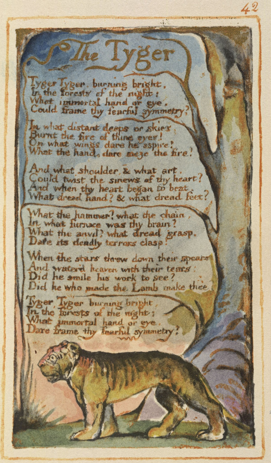 an analysis of the lamb by william blake George norton's close reading of william blake's 'the tyger' considers the poem's imagery through 18th-century industrial and political revolutions and moral literature.