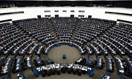 Members of the EU Parliament in Strasbourg