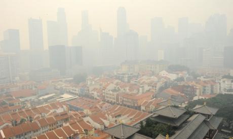 Singapore shrouded by a haze as carbon emissions soar.
