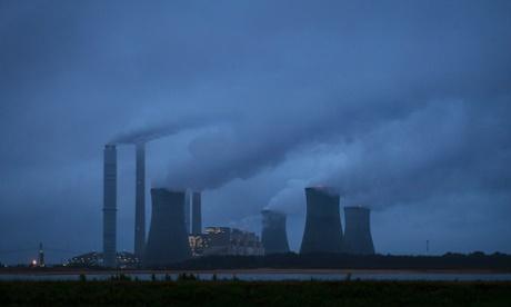 The coal-fired Scherer plant in operation in Juliette, Georgia.