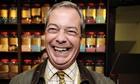 Nigel Farage in a sweet shop in Rochester