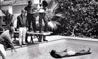 Mike Nichols directing Dustin Hoffman in The Graduate in 1967.
