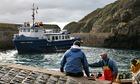 Sark ferry islanders