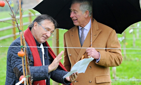 Prince Charles is given a tour of the National Heritage Garden by Raymond Blanc at Belmond Le Manoir