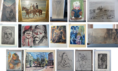 Photos made available by German prosecutors show some of the paintings found in Cornelius Gurlitt's collection