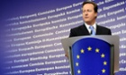 British Prime Minister David Cameron gives a press conference prior to an European Council gathering.