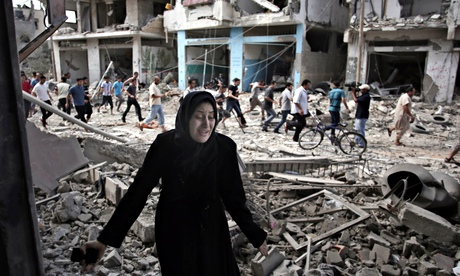 Palestinian woman in Gaza City