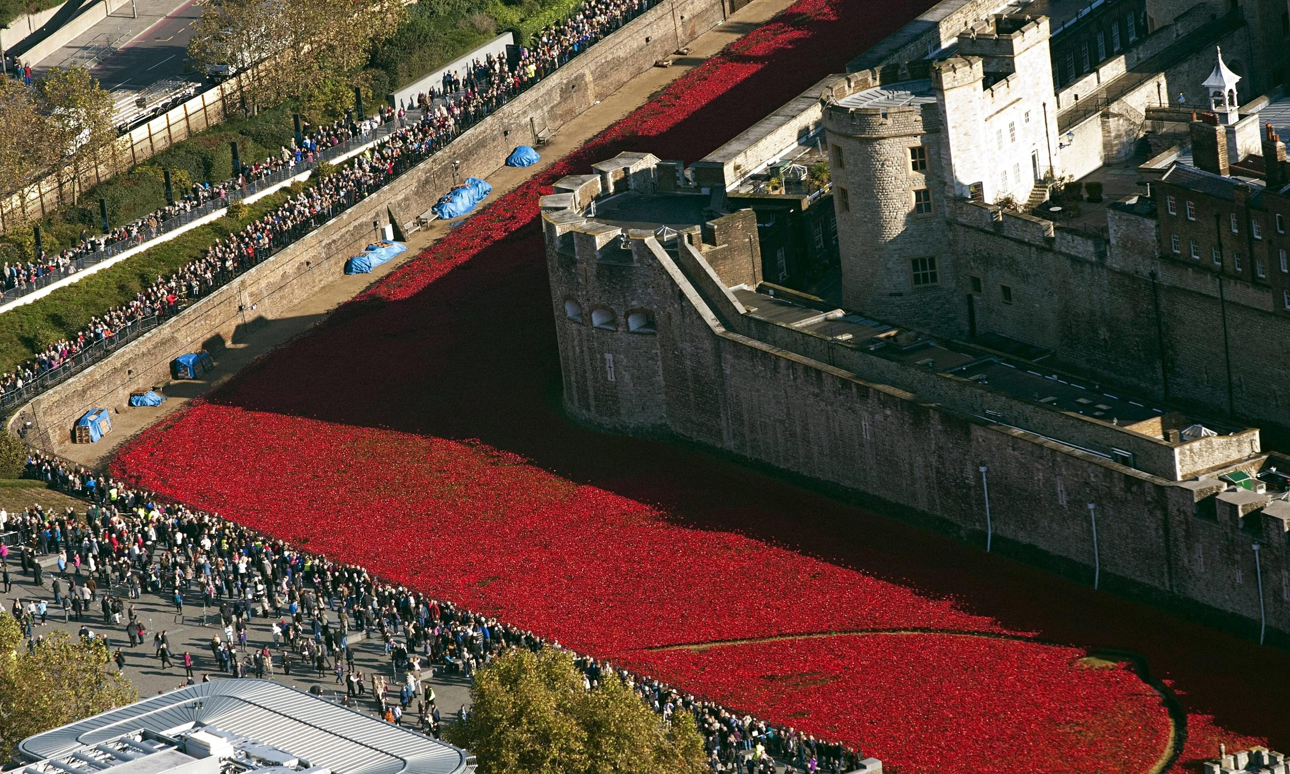 Art Installation Tower of London Poppies Tower of London Poppies to be
