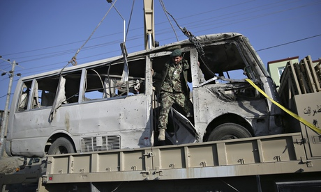 Suicide bomb attack in Kabul, Afghanistan