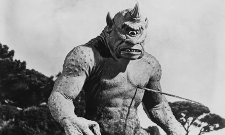 Victim of an onomatopoeic blinding: the Cyclops from Ray Harryhausen's The 7th Voyage of Sinbad', 1958.
