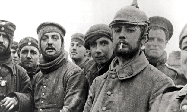 WWI Christmas Truce: German and British Troops