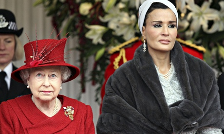 Sheikha Mozah and the Queen