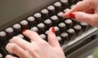 Hands on Typewriter, close-up --- Image by   Bettina van Recum/Westend61