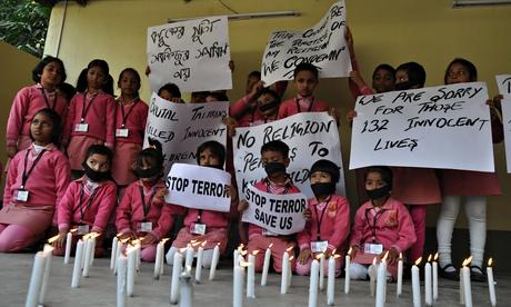Indian Students Protest Against Taliban Peshawar School Massacre