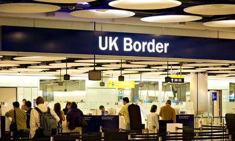 UK Border control at Terminal 5 Heathrow