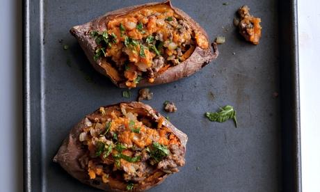 Nigel Slater's lamb stuffed sweet potato recipe