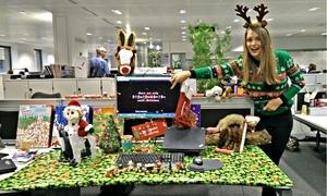 Annie's Christmas desk