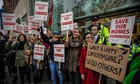 New Era estate campaigners protest outside Mayfair office of Westbrook Partners earlier this month