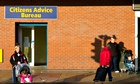 Women outside a Citizens Advice Bureau, which helps people resolve money issues