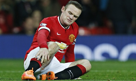 Wayne Rooney out of Manchester United's game against Stoke with injury